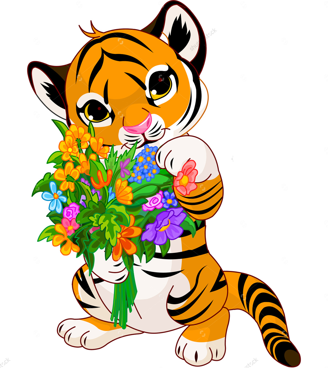 Открытки с тигрятами